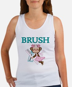 BRUSH. With picture of  Tooth Fai Women's Tank Top