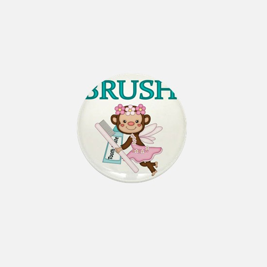 BRUSH. With picture of  Tooth Fairy Mini Button