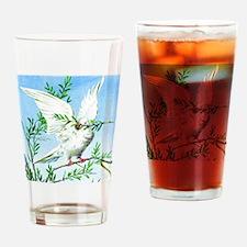 White dove vintage art Drinking Glass