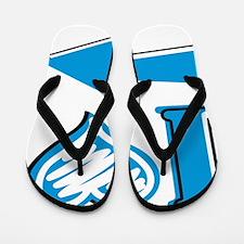 I Heart - Blue Arrow Flip Flops