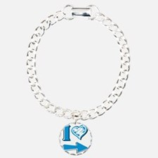 I Heart - Blue Arrow Charm Bracelet, One Charm
