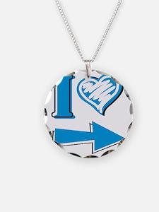 I Heart - Blue Arrow Necklace