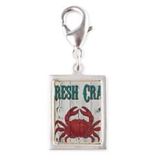 Fresh Crab Silver Portrait Charm
