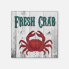 "Fresh Crab Square Sticker 3"" x 3"""