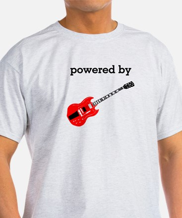 Powered By Electric Guitar T-Shirt