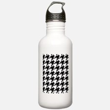 Houndstooth White Water Bottle