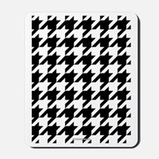 Houndstooth White Mousepad