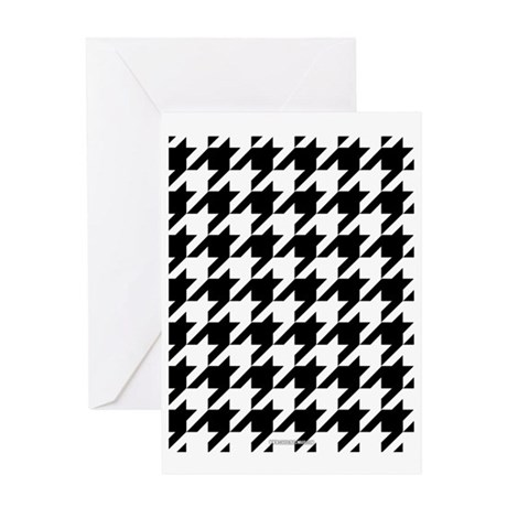 Houndstooth White Greeting Card