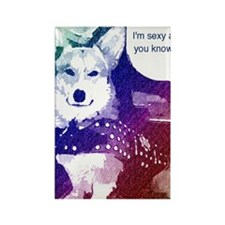 Im sexy and you know it Corgi Rectangle Magnet