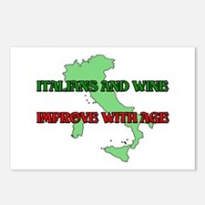 Italians And Wine Improve Wit Postcards (Package o