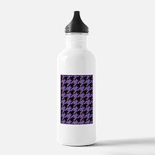 Houndstooth Purple Water Bottle