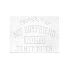 Property of my Boyfriend 5'x7'Area Rug