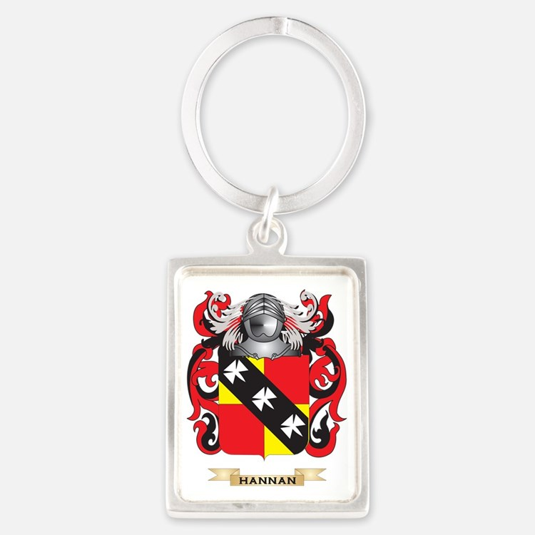 Hannan Coat of Arms (Family Cres Portrait Keychain