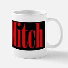 Ditch Mitch Red on Black Mug