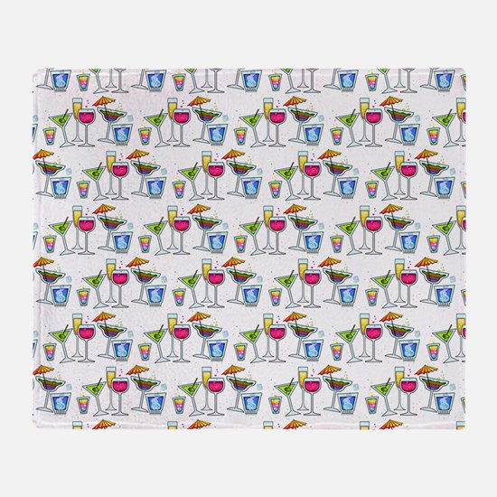 PARTY GLASSES Throw Blanket
