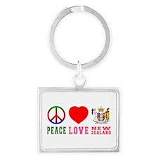 Peace Love New Zealand Landscape Keychain