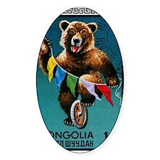 1973 Mongolia Bear Riding Wheel Pos Decal