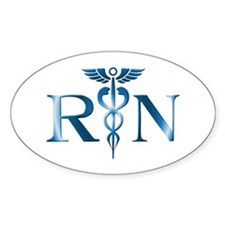RN Nurse Caduceus Oval Decal