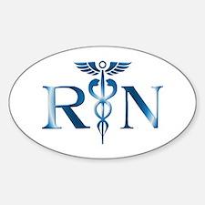 RN Nurse Caduceus Oval Decal