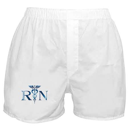 RN Nurse Caduceus Boxer Shorts