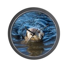Alaska Sea Otter Wall Clock