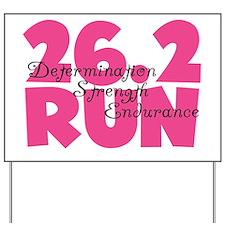 26.2 Run Pink Yard Sign