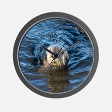 Alaska Sea Otter Wall Clock
