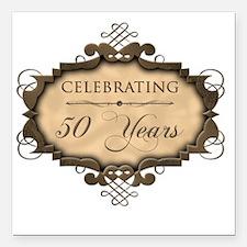 "50th Wedding Aniversary  Square Car Magnet 3"" x 3"""