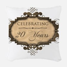 20th Wedding Aniversary (Rusti Woven Throw Pillow