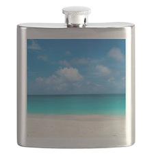 Tropical Beach View Cap Juluca Anguilla Flask