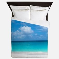 Tropical Beach View Cap Juluca Anguill Queen Duvet