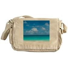 Tropical Beach View Cap Juluca Angui Messenger Bag