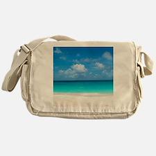 Tropical Beach View Cap Juluca Angui Messenger Bag