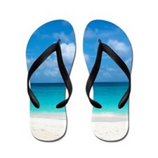Tropical Beach View Cap Juluca Anguilla Flip Flops