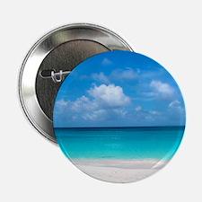 "Tropical Beach View Cap Juluca Anguil 2.25"" Button"