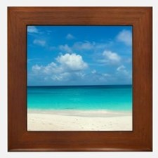 Tropical Beach View Cap Juluca Anguill Framed Tile