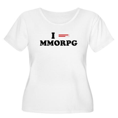 "I ""Heart"" MMORPG Women's Plus Size Scoop Neck T-Sh"