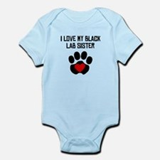 I Love My Black Lab Sister Body Suit