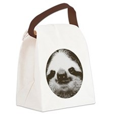 Circle sloth Canvas Lunch Bag