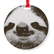 Circle sloth Ornament