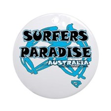 Funny Surfer paradise Ornament (Round)