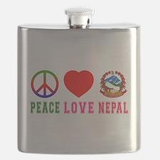 Peace Love Nepal Flask