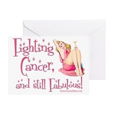 Fighting Cancer and still Fabulous! Greeting Card