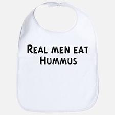 Men eat Hummus Bib