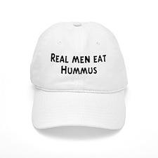 Men eat Hummus Baseball Cap