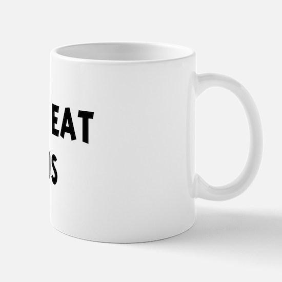 Men eat Hummus Mug