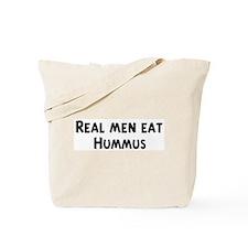Men eat Hummus Tote Bag