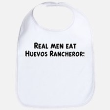 Men eat Huevos Rancherors Bib