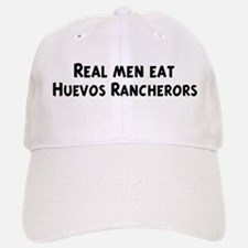 Men eat Huevos Rancherors Baseball Baseball Cap