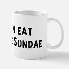 Men eat Hot Fudge Sundae Mug